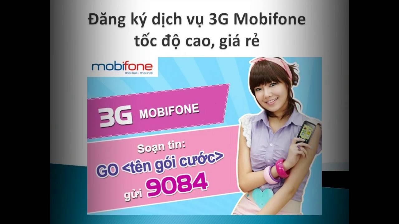 Hướng dẫn đăng ký dịch vụ 3G Mobifone mới nhất