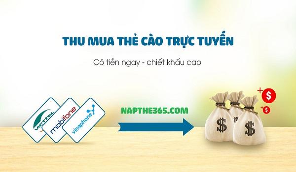 Dịch vụ thu mua thẻ cào tại cổng thanh toán Napthe365.com