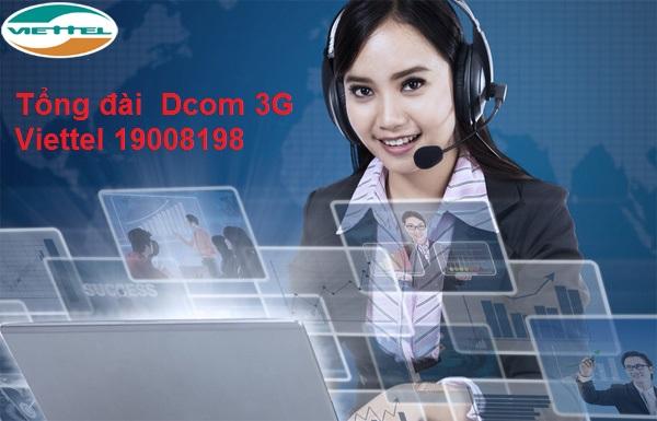 Chi tiết về số tổng đài hỗ trợ Dcom 3G Viettel