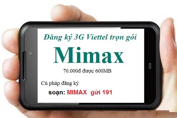 Hướng dẫn chi tiết cách đăng ký gói cước 3G Viettel Mimax