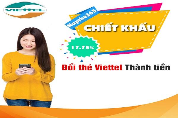 Đổi thẻ Viettel thành tiền mặt tại nơi uy tín