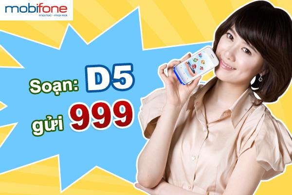 Hướng dẫn cách đăng kí nhanh gói cước 3G Mobifone D5