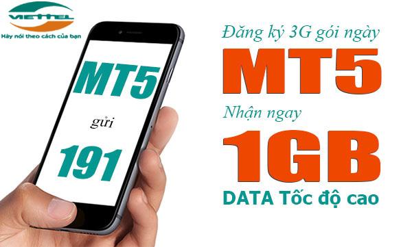Hướng dẫn cách đăng kí gói MT5 Viettel  ưu đãi