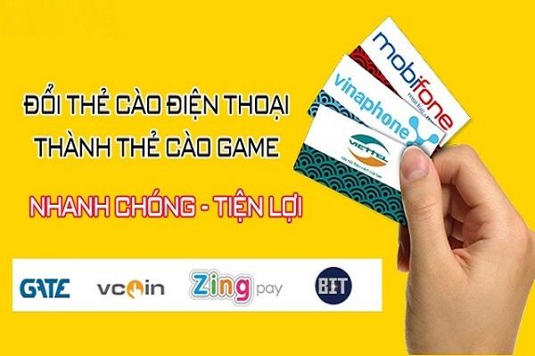 Đổi thẻ điện thoại lấy thẻ game nhanh chóng, đơn giản