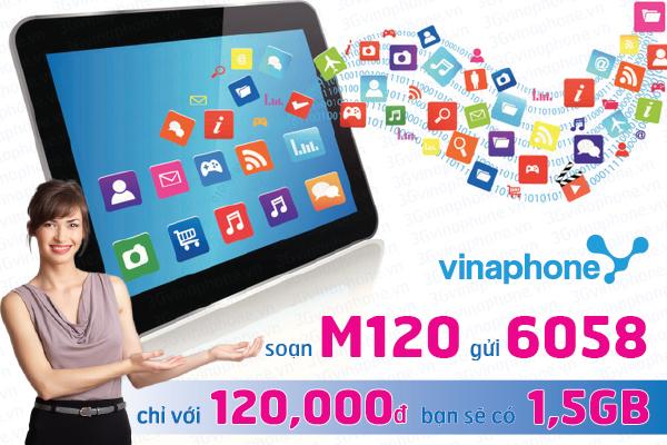 Hướng dẫn chi tiết cách đăng kí gói cước 3G M120 Vinaphone