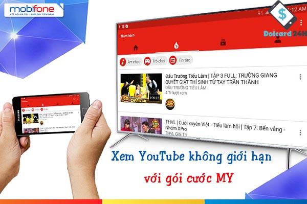 Hướng dẫn cách đăng ký gói cước combo của mobifone xem Youtube tốt nhất
