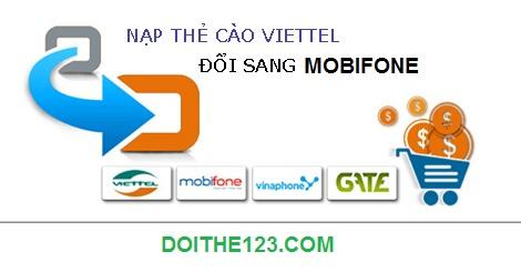 Đổi thẻ Viettel sang thẻ Mobifone nhanh chóng tại nhà