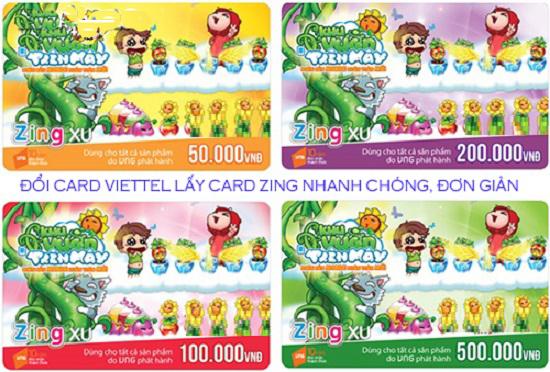 Đổi card điện thoại Viettel lấy thẻ Zing đơn giản nhất