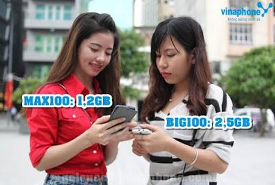 Phân biệt sự khác nhau giữa gói cước Max100 và BIG100 Vinaphone