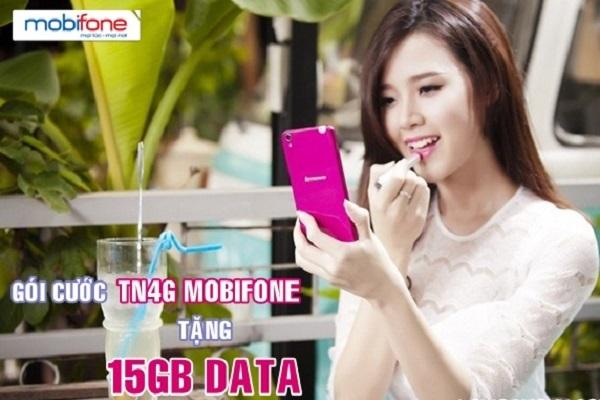 Hướng dẫn cách nhận ngay  15GB data 4G từ gói cước TN4G Mobifone