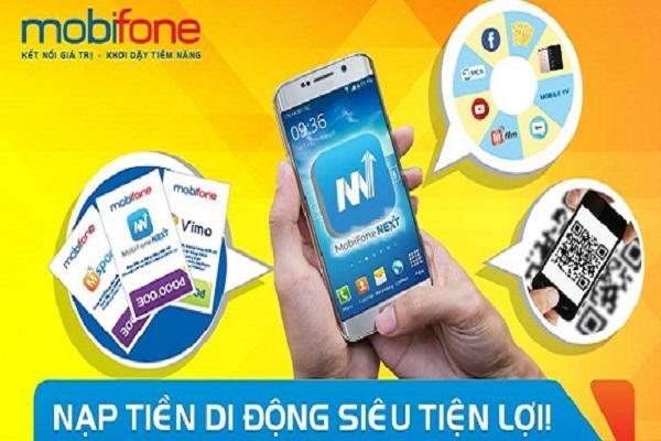 Tìm hiểu ứng dụng nạp tiền điện thoại Mobifone Next
