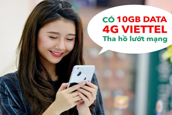 Cách nhận 10GB Data 4G miễn phí khi đổi sim 4G Viettel