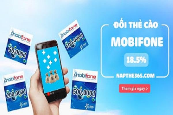 Đổi thẻ Mobifone thành tiền mặt chiết khấu khủng 82%