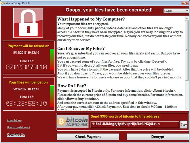 Hãy kiểm tra và phòng chống mã độc tống tiền WannaCry ngay hôm nay