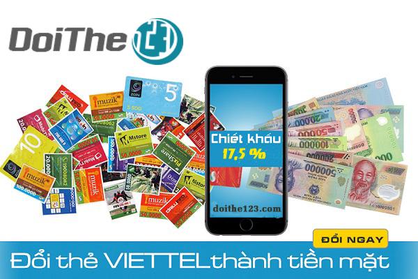 Đổi card điện thoại Viettel thành tiền mặt với chiết khấu tốt nhất