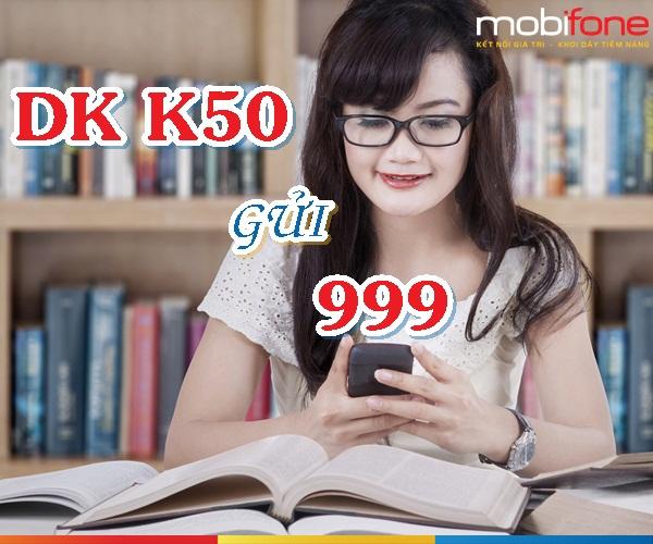 Hướng dẫn nhanh cách đăng ký gói cước K50 Mobifone