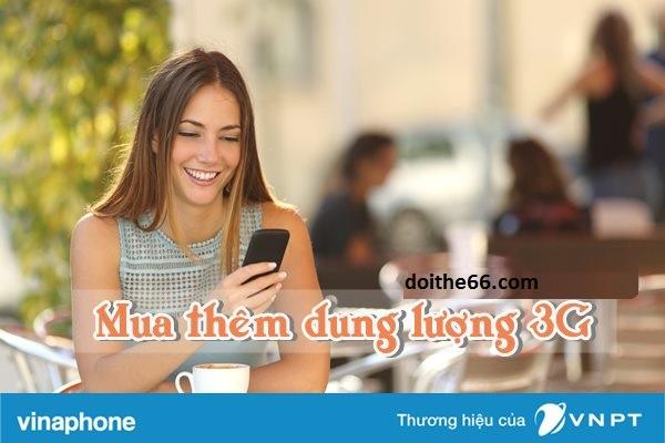 Hướng dẫn mua thêm dung lượng 3G Vinaphone tốc độ cao