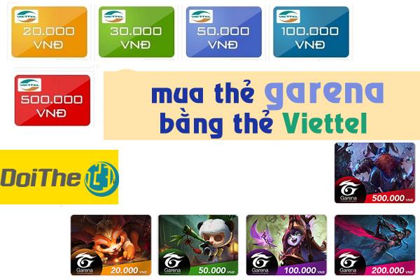 Mua thẻ Garena bằng thẻ Viettel đơn giản nhất
