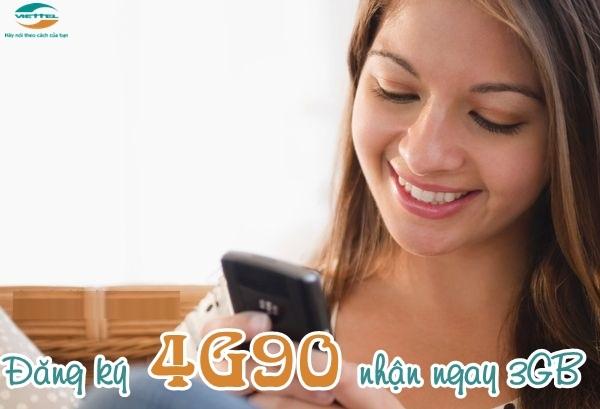 Hướng dẫn chi tiết cách đăng kí gói cước  4G90 Viettel