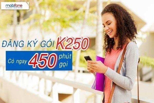 Hướng dẫn đăng ký gói cước K250 Mobifone nhận ưu đãi hấp dẫn về số phút gọi miễn phí