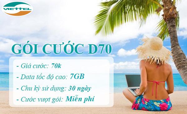 Hướng dẫn nhanh chóng cách đăng kí gói cước D70 Viettel cho Dcom