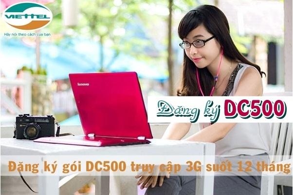 Gói cước DC500 Viettel  được đăng kí như thế nào?