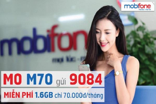 Hướng dẫn đăng ký gói M70 Mobifone nhận ngay ưu đãi 1,6 GB