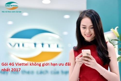 Hướng dẫn chi tiết cách đăng gói cước 4G Viettel 2017