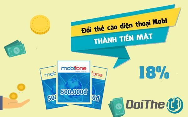 Đổi thẻ cào Mobifone thành tiền mặt nhanh nhất