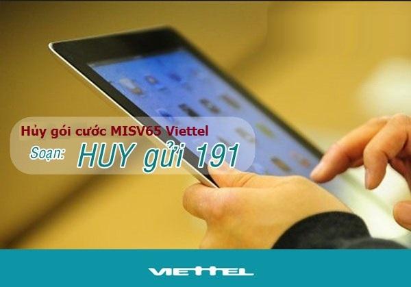 Hướng dẫn hủy gói cước MISV65 Viettel nhanh nhất