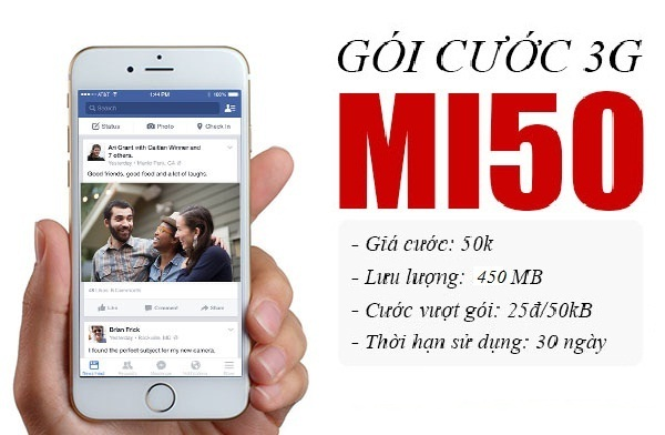 Hướng dẫn đăng kí nhanh gói Mi50 Viettel nhận ngay 450MB