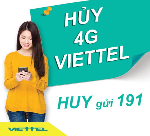 Hướng dẫn nhanh cách hủy gói cước 4G Facebook Viettel