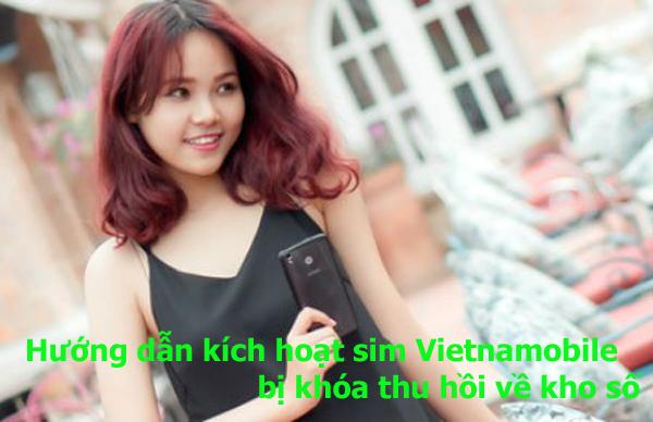 Hướng dẫn kích hoạt sim Vietnamobile bị khóa thu hồi về kho số