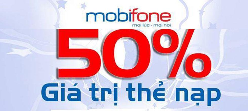 Khuyến mãi Mobifone 50% ngày 5/9/2017