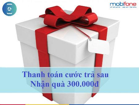 Tặng ngay 300.000đ khi thanh toán nợ cước trả sau Mobifone