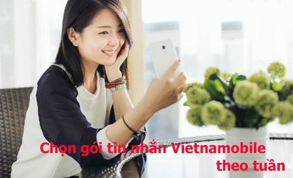 Hướng dẫn đăng ký gói tin nhắn Vietnamobile theo tuần