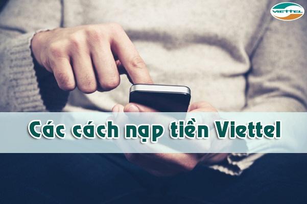 Hướng dẫn chi tiết cách nạp tiền điện thoại viettel