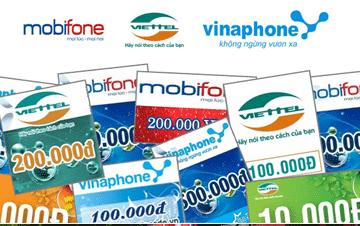 Các loại thẻ cào điện thoại trên thị trường hiện nay