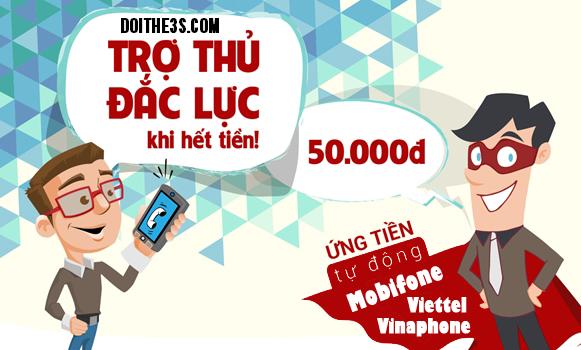 Ứng tiền Vinaphone từ 3k cho tới 50k