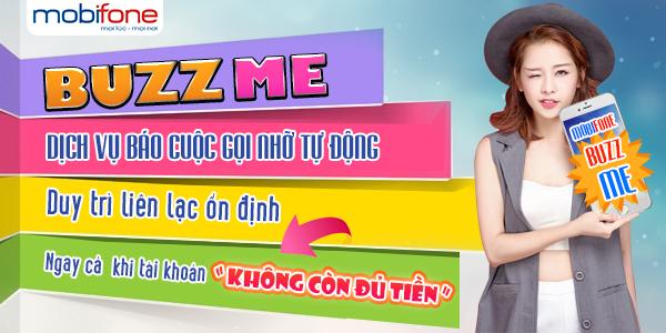 Đăng kí nhanh dịch vụ BUZZ ME Mobifone -  Báo gọi nhỡ tự động