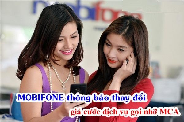 Mobifone mới thay đổi giá cước dịch vụ MCA Mobifone
