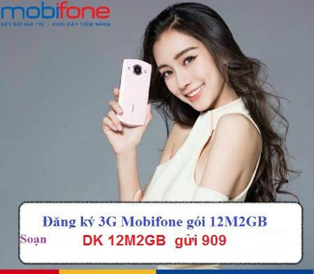 Hướng dẫn cách đăng kí gói 12M2GB Mobifone dùng 3G thả ga