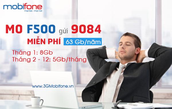 Sử dụng sim 3G F500 Mobifone nhận ngay 63GB data dùng tẹt ga cả năm