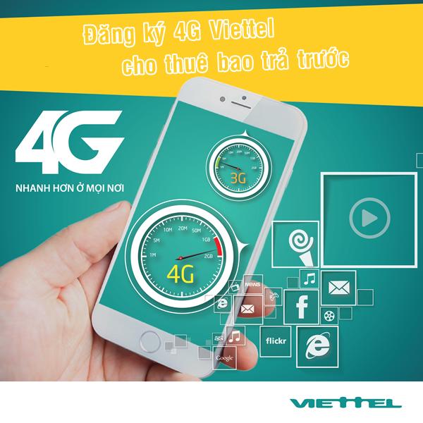 Viettel khuyến mãi 7 ngày miễn phí 4G Viettel cho các thuê bao di động