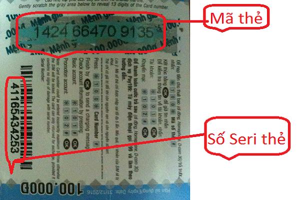 Cách tìm số seri thẻ Viettel khi còn thông tin mã thẻ