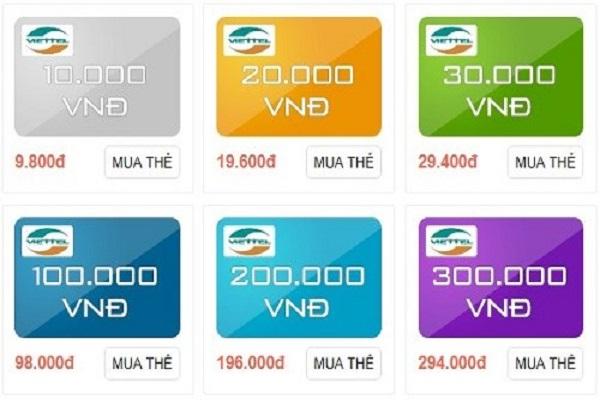 Cách mua thẻ Viettel qua mạng nhanh chóng, đơn giản