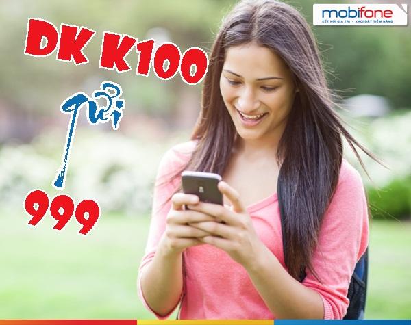 Hướng dẫn nhanh cách đăng kí gói cước K100 Mobifone