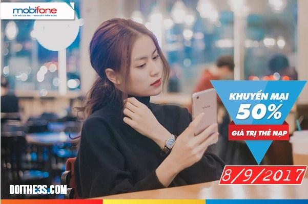 Chương trình Mobifone khuyến mãi nạp thẻ thứ 6 hàng tuần ngày 8/9/2017