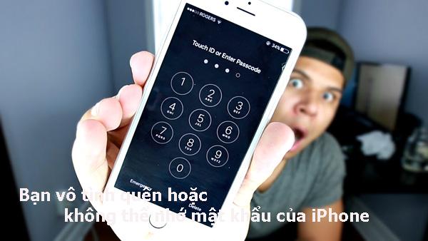 3 tuyệt chiêu mở khóa iPhone khi quên mật khẩu