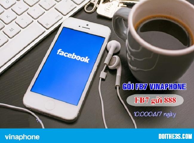 Bỏ ra 10.000đ đăng ký gói FB7 Vinaphone, không bao giờ là lỗ